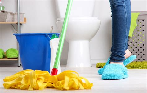 mopping bathroom floor hassle free bathroom cleaning secrets you need to know