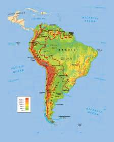 political and physical map of south america south america