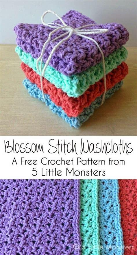 stitches diy diy blossom stitch crochet washcloths diy ideas