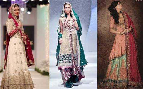 5 colour combinations for pakistani bridal dresses