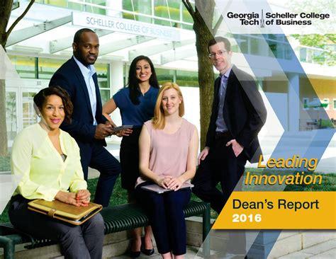 Scheller Mba Employment Report by Tech Scheller College Of Business 2016 Dean S