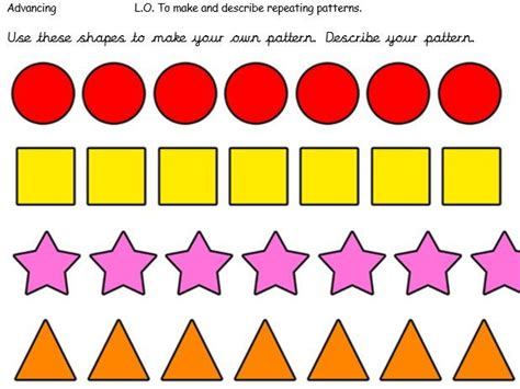 pattern shapes pictures maths shape and pattern by goldstarteach teaching