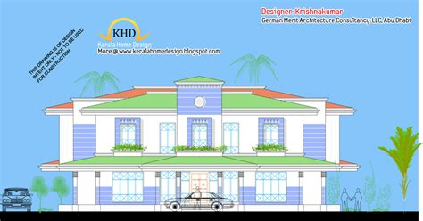 Single Floor House Plans India Villa Elevation And Floor Plan 4900 Sq Ft Kerala Home