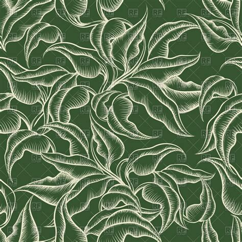 seamless pattern leaves seamless vintage floral pattern with leaves vector image