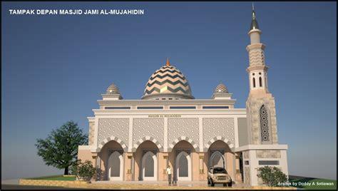 Desain Masjid Timur Tengah | arsitektur masjid masjid jami al mujahidin