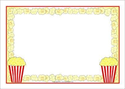 popcorn a4 page borders (sb8252) sparklebox | free