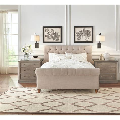 home decorators co home decorators collection gordon natural queen sleigh bed