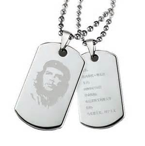 Customized Dog Tag Necklace Militares Licencia Collar De Hombres De Titanio Collar De Acero Placas Femeninos Letras