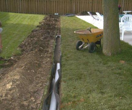 Installing A Drain In Backyard by Drainage Correction And Water Management Landscape