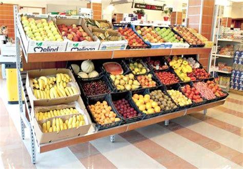 scaffali frutta e verdura scaffalatura alimentare arredo salumeria panetteria verdura