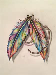 colorful feather colorful feather tattoos colorful feath great