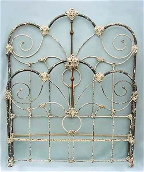 original antique iron bed details