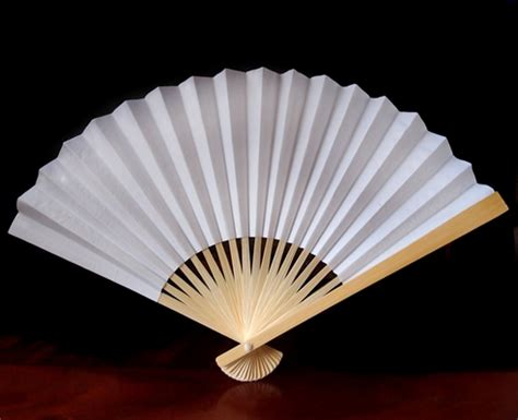 How To Make A Paper Fan For Weddings - 9 quot white paper fans for weddings premium paper stock