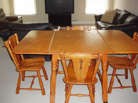 Antique Dining Table And Chairs For Sale Maple Drop Leaf Table And 4 Chairs For Sale Antiques Classifieds