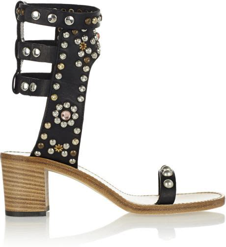 marant carol sandals marant carol studded leather sandals in black lyst