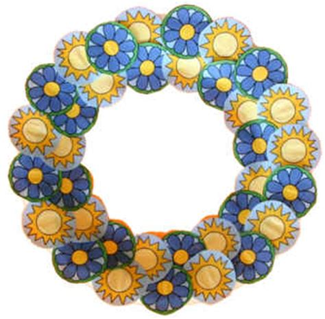 dltk paper crafts paper plate summer wreath