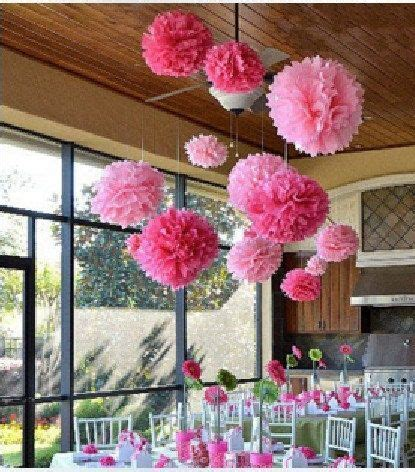 10pcs 14inch FREE SHIPPING Tissue paper Pom Poms Wedding