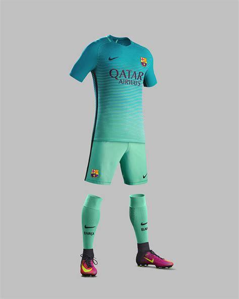 Jersey Barcelona 3rd 2017 2018 17 18 Fullset Grade Ori f c barcelona third kit 2016 17 nike news