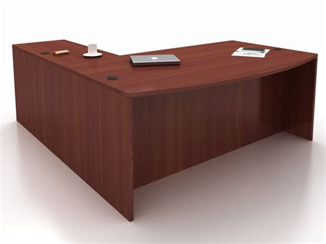 New Cherryman Amber Bow Front L Desk Eastern Office Furniture Cherryman Office Furniture