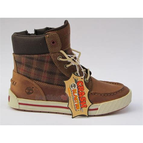 boys timberland boots 6173r tobacco leather casual
