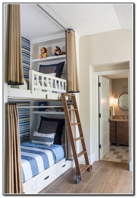 bunk beds with curtains built in bunk beds with stairs beds home design ideas