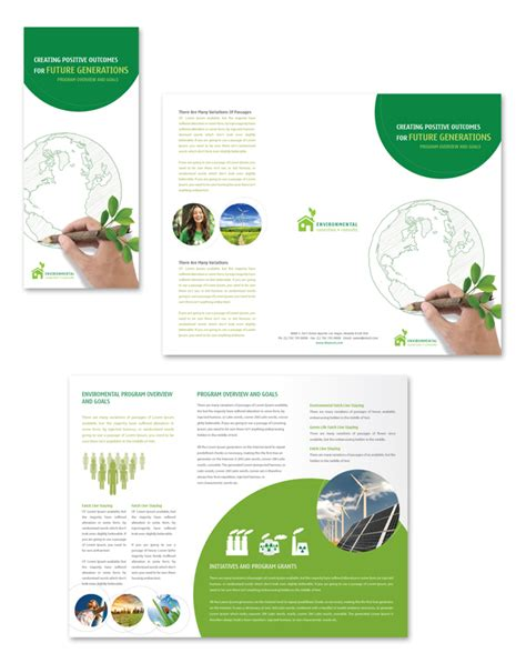 environment template environmental protection tri fold brochure template