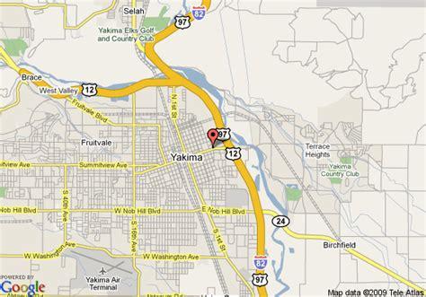map usa yakima map of howard johnson yakima yakima