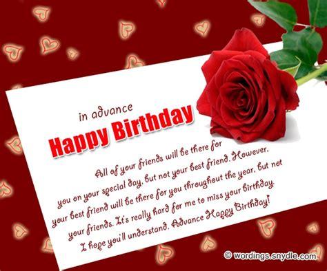 Advance Happy Birthday Card