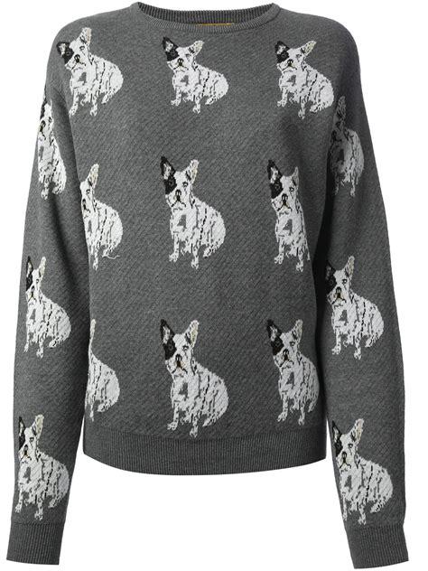 Sweater Buldog Putih 1 bulldog sweater in gray lyst