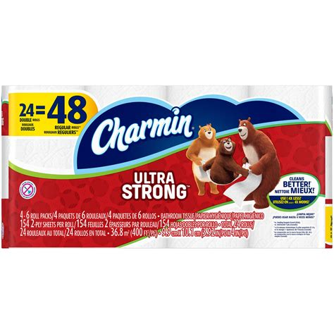 charmin ultra strong toilet paper 24 rolls jet