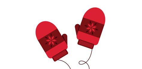 create  pair  cute winter mittens  illustrator