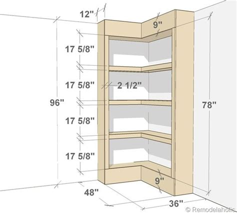 bookshelf plans diy built in corner bookshelves via remodelaholic