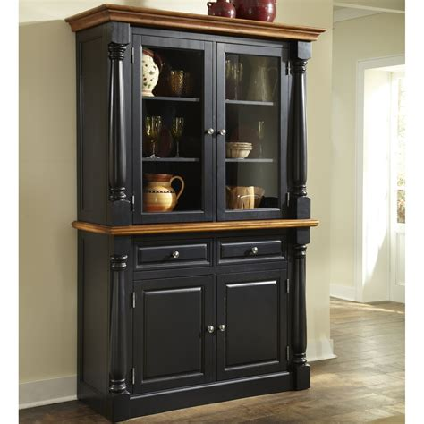 black china hutch cabinet home styles monarch china cabinet black oak china