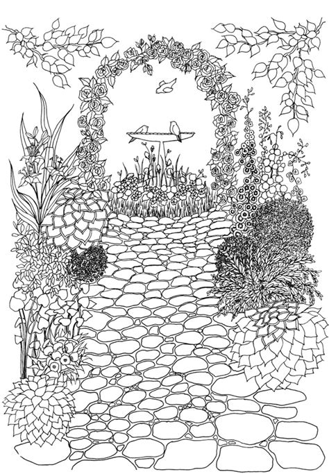 coloring pages for adults garden welcome to dover publications