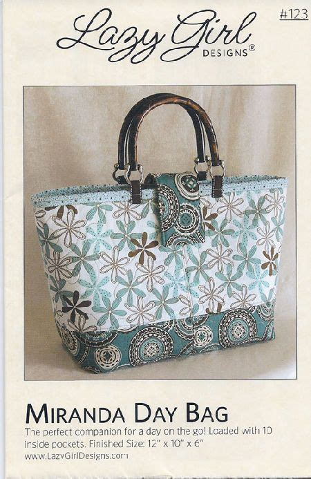 lazy girl designs 123 miranda day bag downloadable pattern 18 best images about lazy girl designs on pinterest fat