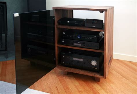 small audio cabinet custom made stereo cabinet by cress carpentry custommade com