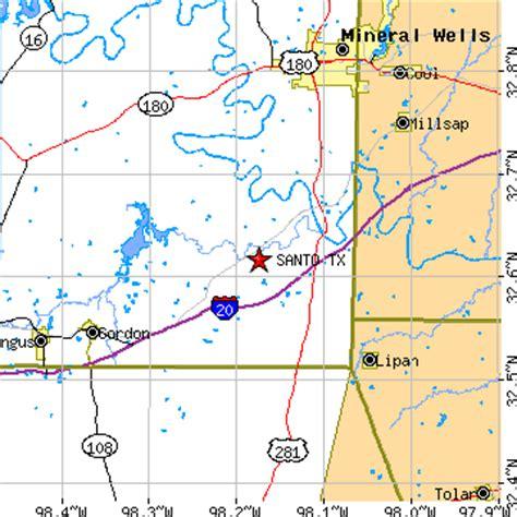 santo texas map santo texas tx population data races housing economy