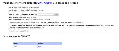 Mac Address Company Lookup ネットワークにつながっている機器の調査 Inexio アイネクシオ