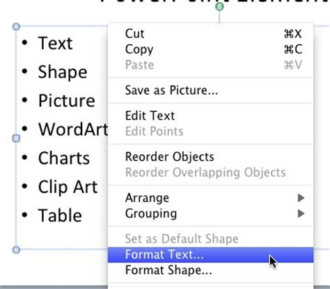 format html placeholder text autofit options in powerpoint 2011 for mac mac