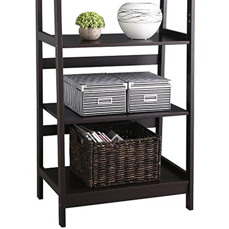 A Frame Ladder Bookcase Yaheetech 5 Tier A Frame Wood Ladder Shelf Bookcase Multifunctional Storage Rack Display Shelf