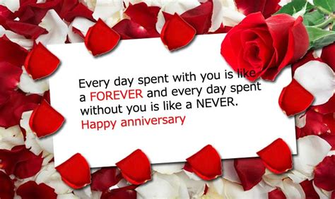 Wedding Wishes Ending by Happy Anniversary Greetings For With Never Ending