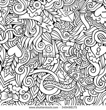 abstract pattern doodles zendoodle design heart shape on abstract stock vector