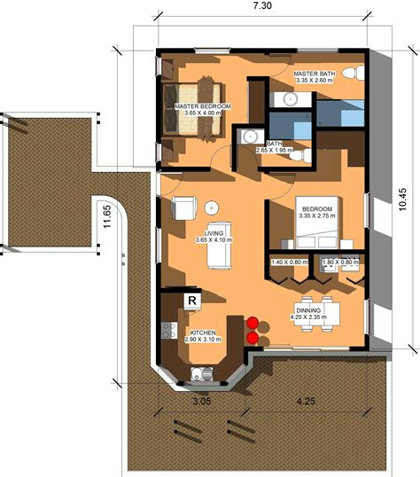 80 square meter house plan 80 square meters in square feet house design and plans