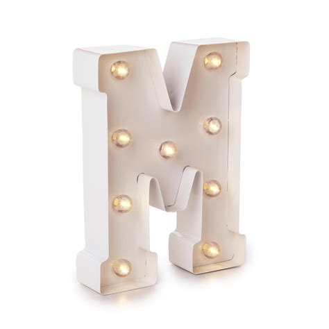 light up letter m light up marquee letters white letter m 9 875 inches