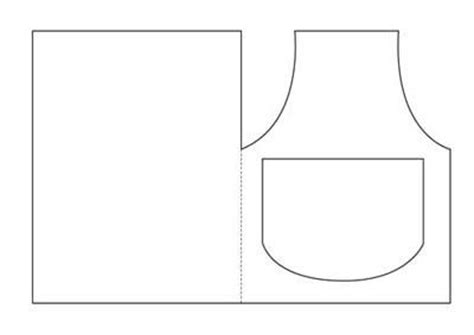 apron design template diy apron shaped card with template and free printables