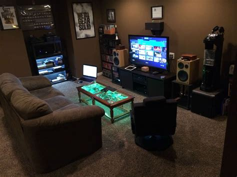 Apartment Gaming Setup Ultimate Ps4 Setup Tech House Room Setup