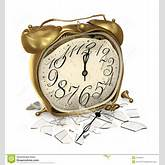 Broken alarm clock with broken glass on a white background.