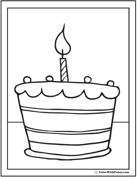 cake coloring pages pdf 28 birthday cake coloring pages customizable pdf printables