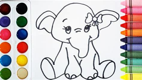 imágenes de elefantes fáciles para dibujar como dibujar y colorear un elefante de arcoiris dibujos