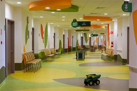 Centralized Floor Plan by Colorful Hospital Design Gives Hope Commercial Interior